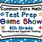 4th Grade Common Core Math Test Prep Game Show Operations
