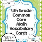 4th Grade Common Core Math Vocabulary Card Set