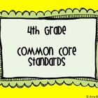 4th Grade Common Core Standards Posters