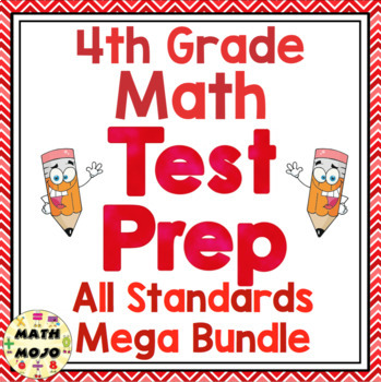 4th Grade Common Core Math Test Prep - All Standards Mega Bundle