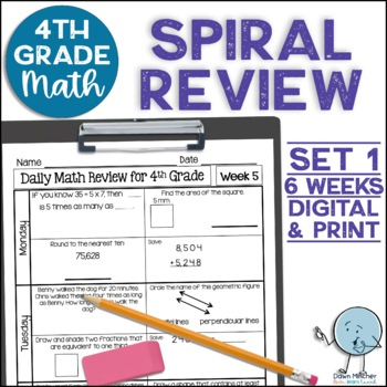 4th Grade Daily Math Spiral Review * Common Core Aligned *