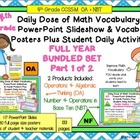 4th Grade Daily Math Vocabulary Slideshow Year Long Bundle