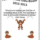 4th Grade Data Binder-Common Core Standards JUNGLE
