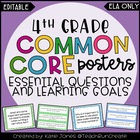 4th Grade ELA Common Core {Essential Questions & Learning