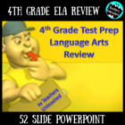 4th Grade English Language Arts Review PowerPoint and Test Prep