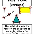 4th Grade Everyday Math Vocabulary Printables