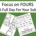 4th Grade Full Day Emergency Sub Teacher Plans/Focus on Fo