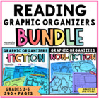 Common Core Reading Graphic Organizer Bundle for Grades 3-5