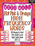 4th Grade High Frequency Words/Pink and Orange Polka Dot - Set 2