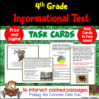 4th Grade Informational Text Task Cards (and Game)!