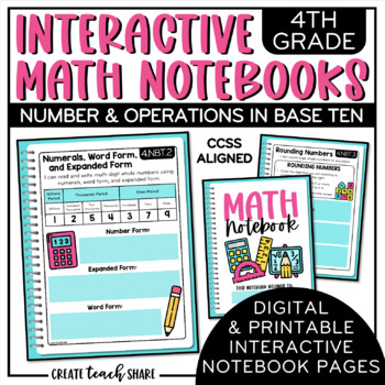 4th Grade Interactive Math Notebook - Number & Operations in Base Ten