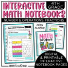 4th Grade Interactive Math Notebook - Fractions
