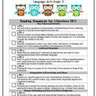 4th Grade LA &amp; Math Common Core Checklist Bundle (Owls)