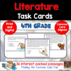 4th Grade Literature Task Cards (and Game)!