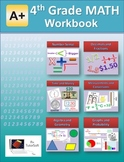 4th Grade MATH Workbook (Worksheets, Exams and Answer Keys)