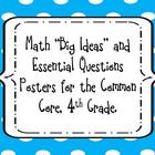 "4th Grade Math ""Big Ideas"" and Essential Questions Posters"