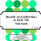 4th Grade Math Common Core Task Cards (4.NBT)