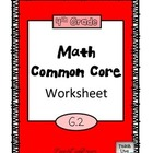 4th Grade Math Common Core Worksheet (4.G.2)