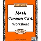 4th Grade Math Common Core Worksheet (4.MD.5b)