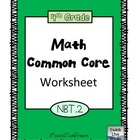 4th Grade Math Common Core Worksheet (4.NBT.2)