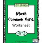 4th Grade Math Common Core Worksheet (4.NBT.3)