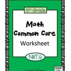 4th Grade Math Common Core Worksheet (4.NBT.6)