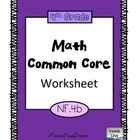 4th Grade Math Common Core Worksheet (4.NF.4b)