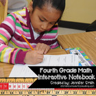 4th Grade Math Interactive Notebook for Entire Year Bundle