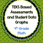 4th Grade Math TEKS Based Assessments {Set 1}