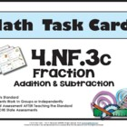 4th Grade Math Task Cards 4.NF.3c Common Core Aligned