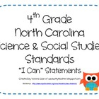 4th Grade NC Science and Social Studies &quot;I Can&quot; Statements
