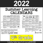4th Grade NO PREP Summer Activity Calendars for 2014 {CCSS