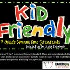 4th Grade Reading Common Core Standards in Kid Friendly Terms