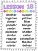4th Grade Reading Street Spelling Lists
