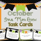 4th Grade Spiral Math Review - October