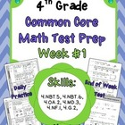 4th Grade: Weekly Test Prep #1 (Daily Practice & Assessment)