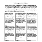4th Grade Writing Assignment Matrix - Quarter 2
