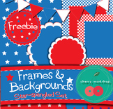 4th July-Frames & Backgrounds - FREEBIE