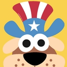 4th July Uncle Sam Dog Mask