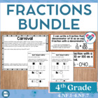 4th gr. Common Core NF 1-7 Set Fractions/Decimals:Math Tas