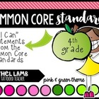 4th grade Full Size Common Core Standards Posters {lime gr