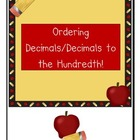 *4th grade Ordering Decimals to the hundredth *games/number line
