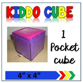 "4""x 4"" Learning Cube with pockets"
