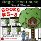 #5-8 Magic Tree House Novels - Novel Study Worksheets