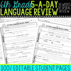 5-A-Day Common Core Language Review {6th Grade}