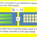 5 Algebra: Equations and Equalities: Model and Solve Multi