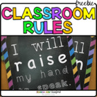 5 Basic School Rules Posters