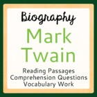 Mark Twain Warm-up Activities: 5 Days with Mark Twain
