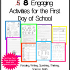 5 Engaging Activities for First Day of School