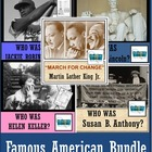 5 FAMOUS AMERICANS UNIT BUNDLE: Lincoln, M. L. King, Antho